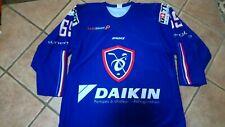 FRANCE HOCKEY maillot PRO custom FRANCE #69 hockey sur glace. XL/XXL Sponsors.