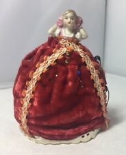 Sweet Vintage Small Porcelain Half Doll Pin Cushion Old