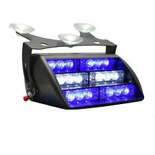 18LED Firefighter Vehicle Dash Warning Light Strobe Flash Blue&White