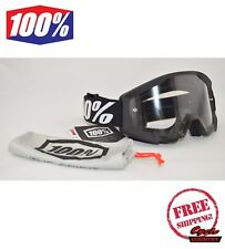 100% PERCENT BRAND STRATA GOGGLES MX MOTOCROSS MOTORCYCLE GOLIATH BLACK W/ CLEAR