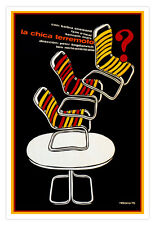 "Decor Graphic Design movie Poster for film""WHAT'S UP Doc?""Streisand patio chair."
