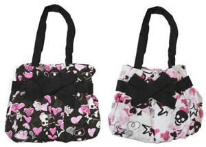 Skulls and Hearts Punk Small Hand Bag - Combo