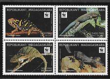 Madagascar (Malagasy) SC 1404 NH issue of 1999 - LIZARDS - WWF