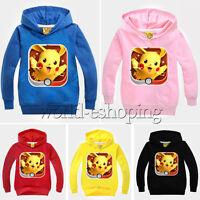 Kids Pokemon Cartoon Hoode Top Toddler Boy Girl Hoodie Pullover Shirt Sweatshirt