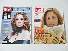 LAURA FABIAN French Paris Match magazine LOT of 2 rare