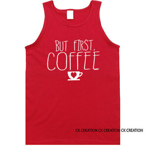 But First Coffee Graphic Tank Top