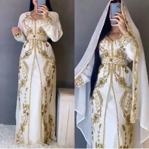 Elegant Dubai Royal Islamic Kaftan Moroccan Caftan Arabic Party wear Beach Dress