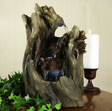 Cascading Caves Waterfall Tabletop Fountain w Lights-water electric indoor home