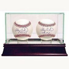 STEINER* DOUBLE* BASEBALL* GLASS* DISPLAY* CASE* CHERRYWOOD* BASE* NEW* IN* BOX*