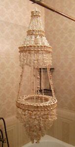 Drape Natural Shell Chandelier Art Decorative Handmade Vintage