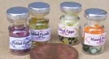 Échelle 1:12 Lot de 4 Mixte Pickle Pots Maison de Poupées Miniature Cuisine Accessoire 3