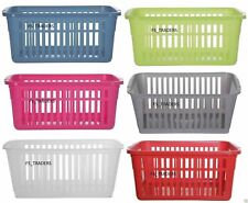 Set of 10 Plastic Handy Storage Basket School Office Kitchen Pharmacy Tidy Unit