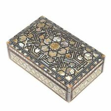 CLASSIC Egyptian Mother of Pearl Mosaic Inlaid Wooden Jewelry Box by NileCart