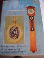 ANTIQUE CLOCKS MAG NOV 1988 AARAN CHEESBROUGH CUMBRIA SCOTTISH RAILWAY CLOCKS
