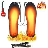 Winter USB Electric Heated Shoe Insoles Pad Feet Heater Foot Warmer Outdoor Snow