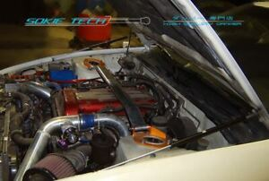 sokietech Hood Shock Gas Lift Strut Black Damper fit for 89-94 Nissan S13 Silvia