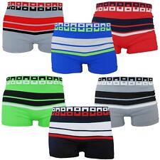 6 Mens Seamless Boxer Briefs Microfiber Compression Underwear