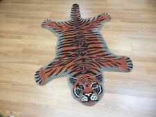 New listing Super Fine Hand Made Veg Dye Hunting Lion (Tiger) Turkish 3x5 Rug