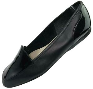 Enzo Angiolini Liberty Patent Leather Flats Loafers 6M Black Classic Slip On
