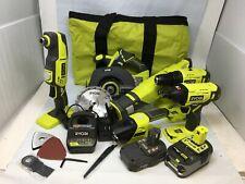 Ryobi P1819 18V One+ Cordless 6 Tool Combo Kit Set Impact Drill Driver Saw, R675
