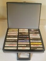 Lot Of 30 Classic 70's 80's classic hard Rock Cassette Tapes and Vintage Case.