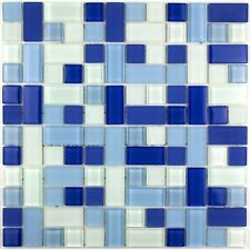 Floor and wall glass mosaic tile mv-cub-ble