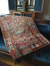 Vintage Boudin Wedding Blanket/Kilim, hand embroidered