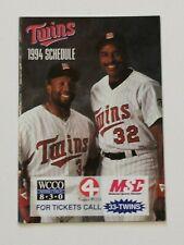 MINNESOTA TWINS 1994 POCKET SCHEDULE MLB BASEBALL KIRBY PUCKETT DAVE WINFIELD