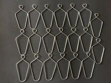 "(20 Pack) 3"" Wire Clip Hanger Pinch Hooks for Drop and Suspended Track Ceiling"