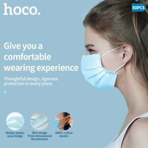 Face Mask Non Surgical Disposable Face Cover Protection 3Ply Masks High Quality