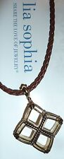 "Necklace - Retired Pendant/Braided Leather New Demo - Lia Sophia ""X-Treme"""