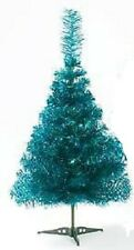 90cm Turquoise Christmas Tinsel Tree with Plastic Base PM103