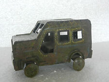 Vintage 7083 Solid Handpainted Iron / Tin Safari Jeep Toy, Collectible