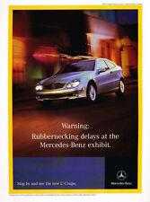 2002 Mercedes Benz C230 Sport Coupe  - Classic Car Advertisement Print Ad J74