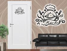 Wandtattoo Tür Aufkleber Sticker Vinyl Küche Sterne Kochmütze ca.20x30cm