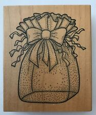 """Rubber Stamp Pretty Sheer Gift Bag with Bow U1804 Darcie's 4 x 3.5"""""""