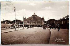 Postkarte 1925 - HAALE a.d. Saale - Hauptbahnhof