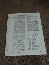 Seeburg Master Remote Volume Control MRVC-3 Service Manual Sheet Parts List