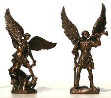 SET ST ARCHANGEL MICHAEL & GABRIEL Statue Sculpture Miniature