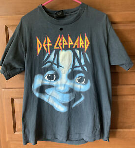 Vintage 1992 Def Leppard T Shirt I Suppose A Rock Outta Question LARGE black 321