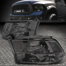 For 09-18 Ram 1500 2500 3500 Smoked Housing Clear Corner Headlight Head Lamps