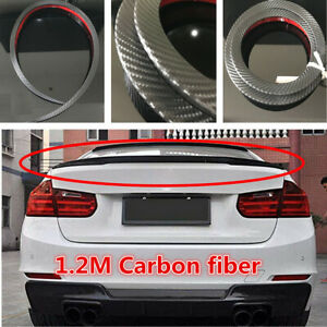 1.2M Carbon Fiber Car SUV Rear Roof Trunk Spoiler Rear Wing Lip Trim Accessories