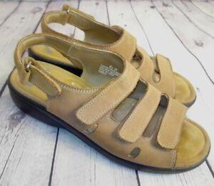 Dr Scholl's Double Air Pillo Tan Comfort Sandals Size 8.5 W
