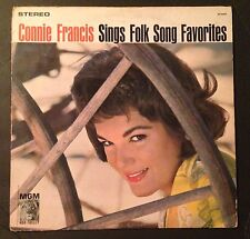 Connie Francis Sings Folk Song Favorites Vinyl LP
