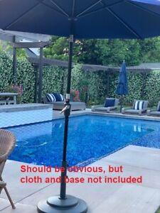 9 Foot Aluminum Tilt Umbrella Base Requires a canopy, Not Included New