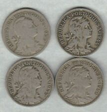 FOUR 1930/1935/1944 & 1946 PORTUGAL/AZORES 50 CENTS IN FINE OR BETTER CONDITION