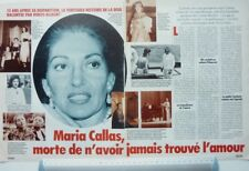 MARIA CALLAS => COUPURE DE PRESSE 2 PAGES 1992 / French CLIPPING