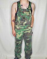 VTG Liberty 32 X 32 Woodland Camo Camouflage Hunting Carpenter Overalls EUC
