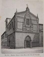 SICILIA MESSINA CHIESA DI SANTA MARIA DELLA SCALA stampa antica 1893