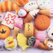 10pcs Random Squishy Panda Bread Cake Buns Donut Doll Squeeze Toy
